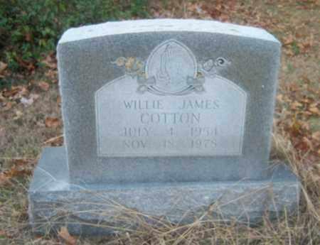 COTTON, WILLIE JAMES - Cross County, Arkansas | WILLIE JAMES COTTON - Arkansas Gravestone Photos