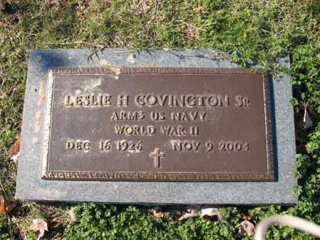 COVINGTON, SR (VETERAN WWII), LESLIE HUGHES - Cross County, Arkansas | LESLIE HUGHES COVINGTON, SR (VETERAN WWII) - Arkansas Gravestone Photos