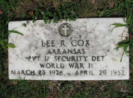 COX  (VETERAN WWII), LEE R - Cross County, Arkansas   LEE R COX  (VETERAN WWII) - Arkansas Gravestone Photos