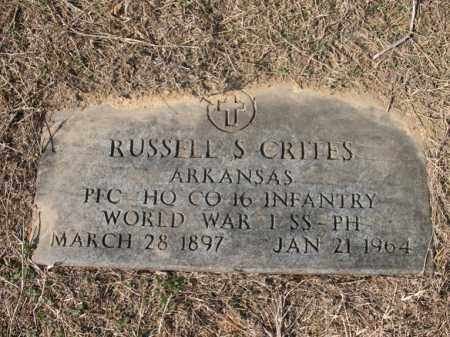 CRITES (VETERAN WWI), RUSSELL S - Cross County, Arkansas   RUSSELL S CRITES (VETERAN WWI) - Arkansas Gravestone Photos