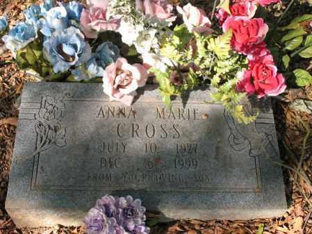CROSS, ANNA MARIE - Cross County, Arkansas   ANNA MARIE CROSS - Arkansas Gravestone Photos