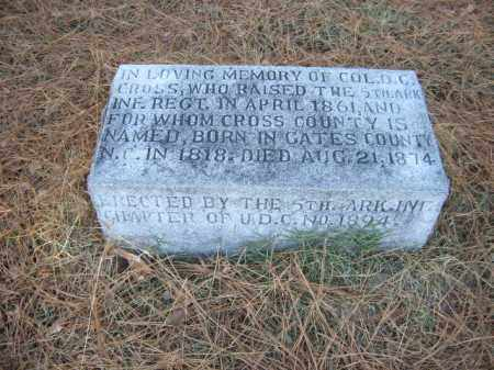 CROSS (VETERAN CSA), DAVID C - Cross County, Arkansas | DAVID C CROSS (VETERAN CSA) - Arkansas Gravestone Photos