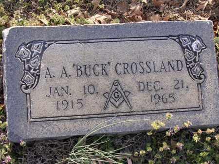 "CROSSLAND, A A ""BUCK"" - Cross County, Arkansas | A A ""BUCK"" CROSSLAND - Arkansas Gravestone Photos"