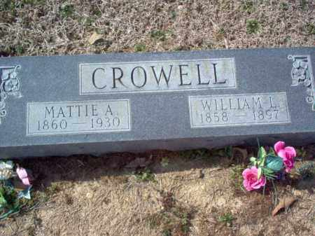 CROWELL, MATTIE A - Cross County, Arkansas | MATTIE A CROWELL - Arkansas Gravestone Photos