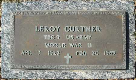 CURTNER (VETERAN WWII), LEROY - Cross County, Arkansas   LEROY CURTNER (VETERAN WWII) - Arkansas Gravestone Photos
