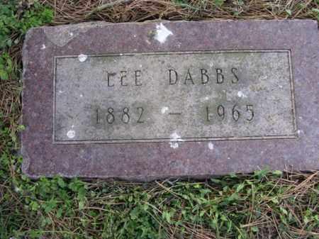 DABBS, LEE - Cross County, Arkansas | LEE DABBS - Arkansas Gravestone Photos