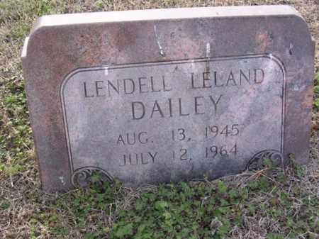 DAILEY, LENDELL LELAND - Cross County, Arkansas | LENDELL LELAND DAILEY - Arkansas Gravestone Photos