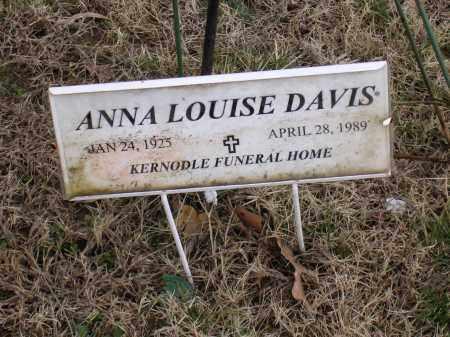 DAVIS, ANNA LOUISE - Cross County, Arkansas | ANNA LOUISE DAVIS - Arkansas Gravestone Photos