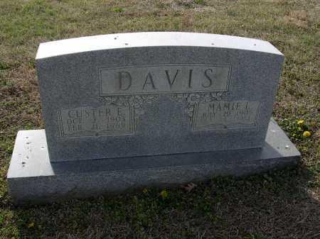 DAVIS, CUSTER E - Cross County, Arkansas | CUSTER E DAVIS - Arkansas Gravestone Photos