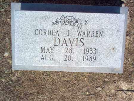 WARREN DAVIS, CORDEA J - Cross County, Arkansas   CORDEA J WARREN DAVIS - Arkansas Gravestone Photos