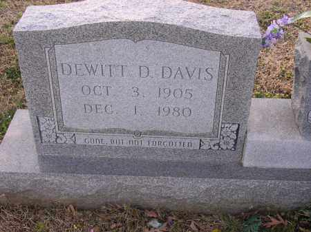DAVIS, DEWITT D - Cross County, Arkansas | DEWITT D DAVIS - Arkansas Gravestone Photos