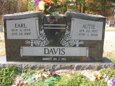 DAVIS, AUTIE - Cross County, Arkansas | AUTIE DAVIS - Arkansas Gravestone Photos