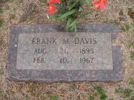 DAVIS, FRANK M - Cross County, Arkansas | FRANK M DAVIS - Arkansas Gravestone Photos
