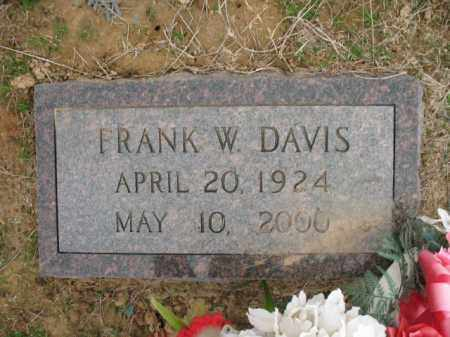 DAVIS, FRANK W - Cross County, Arkansas | FRANK W DAVIS - Arkansas Gravestone Photos
