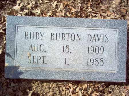BURTON DAVIS, RUBY - Cross County, Arkansas | RUBY BURTON DAVIS - Arkansas Gravestone Photos