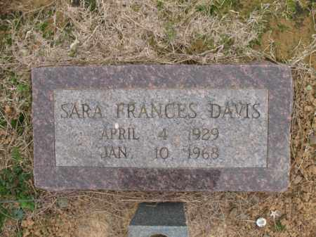 DAVIS, SARA FRANCES - Cross County, Arkansas | SARA FRANCES DAVIS - Arkansas Gravestone Photos
