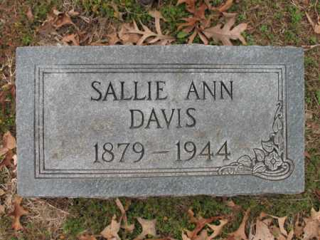 DAVIS, SALLIE ANN - Cross County, Arkansas | SALLIE ANN DAVIS - Arkansas Gravestone Photos