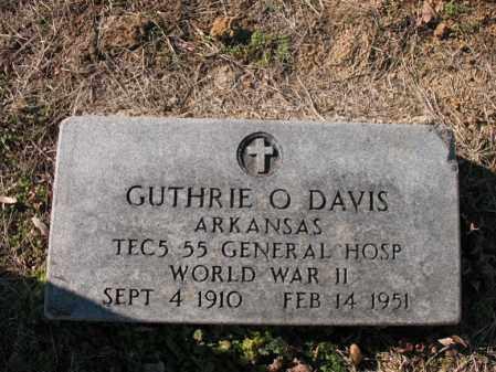 DAVIS (VETERAN WWII), GUTHRIE O - Cross County, Arkansas | GUTHRIE O DAVIS (VETERAN WWII) - Arkansas Gravestone Photos