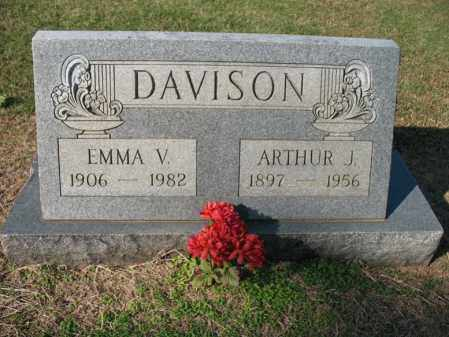 DAVISON, ARTHUR J - Cross County, Arkansas | ARTHUR J DAVISON - Arkansas Gravestone Photos
