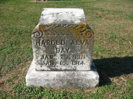 DAY, HAROLD ALVA - Cross County, Arkansas   HAROLD ALVA DAY - Arkansas Gravestone Photos