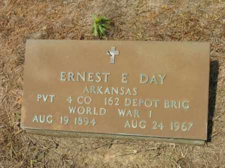 DAY (VETERAN WWI), ERNEST E - Cross County, Arkansas   ERNEST E DAY (VETERAN WWI) - Arkansas Gravestone Photos
