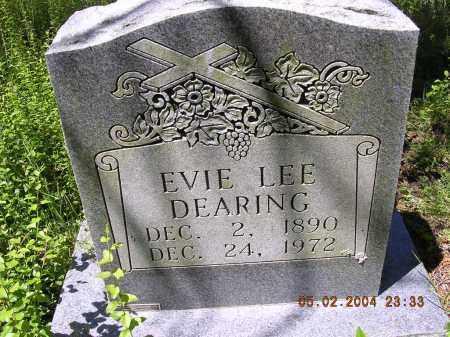 DEARING, EVIE LEE - Cross County, Arkansas   EVIE LEE DEARING - Arkansas Gravestone Photos