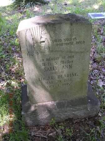 DEARING, SALLY ANN - Cross County, Arkansas   SALLY ANN DEARING - Arkansas Gravestone Photos