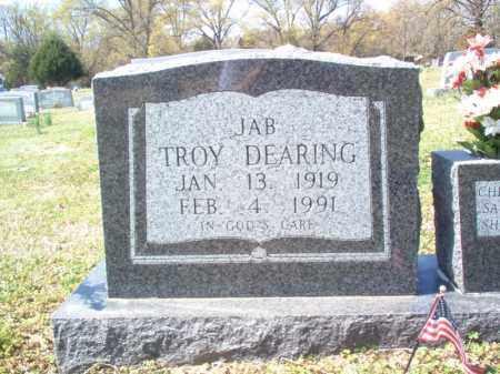 "DEARING, TROY ""JAB"" - Cross County, Arkansas | TROY ""JAB"" DEARING - Arkansas Gravestone Photos"