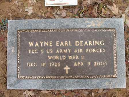 "DEARING (VETERAN WWII), WAYNE EARL ""WHITIE"" - Cross County, Arkansas | WAYNE EARL ""WHITIE"" DEARING (VETERAN WWII) - Arkansas Gravestone Photos"