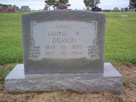 DEASON, GEORGE W - Cross County, Arkansas | GEORGE W DEASON - Arkansas Gravestone Photos