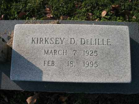 DELILLE, KIRKSEY D - Cross County, Arkansas | KIRKSEY D DELILLE - Arkansas Gravestone Photos