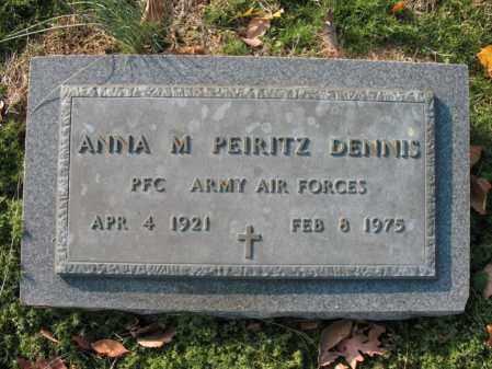 PEIRITZ DENNIS (VETERAN), ANNA M - Cross County, Arkansas   ANNA M PEIRITZ DENNIS (VETERAN) - Arkansas Gravestone Photos