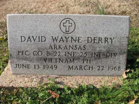 DERRY (VETERAN VIET, KIA), DAVID WAYNE - Cross County, Arkansas   DAVID WAYNE DERRY (VETERAN VIET, KIA) - Arkansas Gravestone Photos