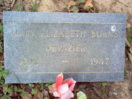 BURNS DEVAZIER, MARY ELIZABETH - Cross County, Arkansas | MARY ELIZABETH BURNS DEVAZIER - Arkansas Gravestone Photos