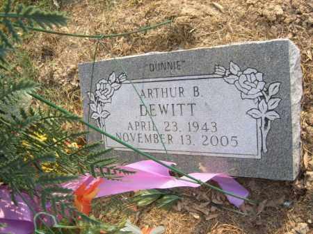 "DEWITT, ARTHUR B ""DUNNIE"" - Cross County, Arkansas | ARTHUR B ""DUNNIE"" DEWITT - Arkansas Gravestone Photos"