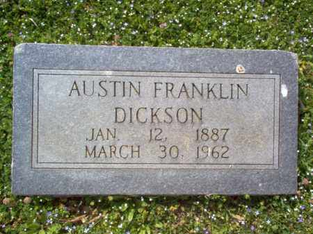 DICKSON, AUSTIN FRANKLIN - Cross County, Arkansas   AUSTIN FRANKLIN DICKSON - Arkansas Gravestone Photos