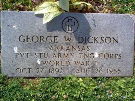 DICKSON (VETERAN WWI), GEORGE W - Cross County, Arkansas | GEORGE W DICKSON (VETERAN WWI) - Arkansas Gravestone Photos