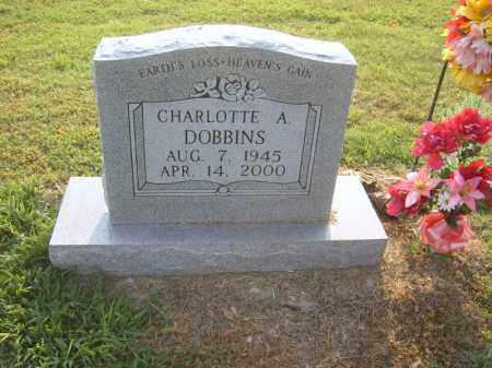 DOBBINS, CHARLOTTE A - Cross County, Arkansas   CHARLOTTE A DOBBINS - Arkansas Gravestone Photos