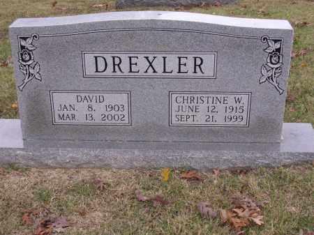 DREXLER, CHRISTINE W - Cross County, Arkansas   CHRISTINE W DREXLER - Arkansas Gravestone Photos