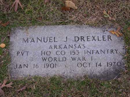 DREXLER  (VETERAN WWI), MANUEL J - Cross County, Arkansas | MANUEL J DREXLER  (VETERAN WWI) - Arkansas Gravestone Photos