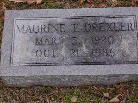 DREXLER, MAURINE T - Cross County, Arkansas | MAURINE T DREXLER - Arkansas Gravestone Photos