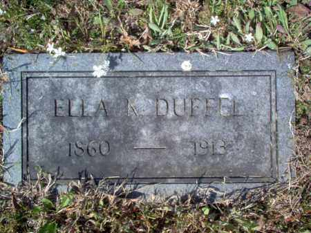 DUFFEL, ELLA K - Cross County, Arkansas | ELLA K DUFFEL - Arkansas Gravestone Photos