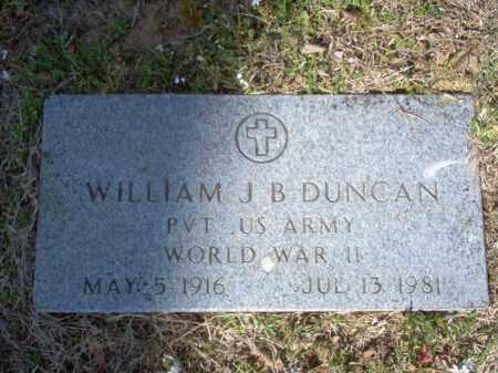 DUNCAN (VETERAN WWII), WILLIAM J B - Cross County, Arkansas | WILLIAM J B DUNCAN (VETERAN WWII) - Arkansas Gravestone Photos