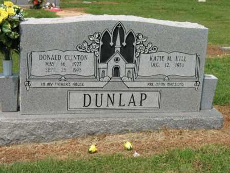 DUNLAP, DONALD CLINTON - Cross County, Arkansas   DONALD CLINTON DUNLAP - Arkansas Gravestone Photos