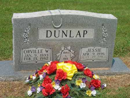 DUNLAP, ORVILLE W - Cross County, Arkansas | ORVILLE W DUNLAP - Arkansas Gravestone Photos