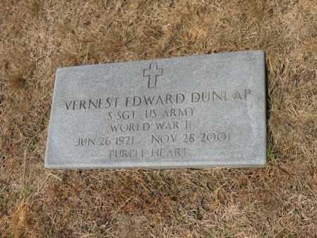DUNLAP (VETERAN WWII), VERNEST EDWARD - Cross County, Arkansas | VERNEST EDWARD DUNLAP (VETERAN WWII) - Arkansas Gravestone Photos