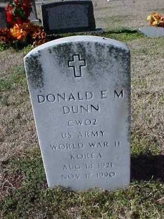 DUNN  (VETERAN 2 WARS), DONALD E M - Cross County, Arkansas   DONALD E M DUNN  (VETERAN 2 WARS) - Arkansas Gravestone Photos