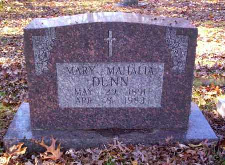 DUNN, MARY MAHALIA - Cross County, Arkansas | MARY MAHALIA DUNN - Arkansas Gravestone Photos