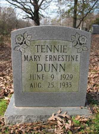 "DUNN, MARY ERNESTINE ""TENNIE"" - Cross County, Arkansas 