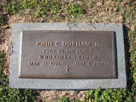 DURHAM, JR (VETERAN 3 WARS), JOHN C - Cross County, Arkansas | JOHN C DURHAM, JR (VETERAN 3 WARS) - Arkansas Gravestone Photos
